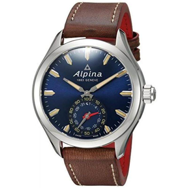 From USA Alpina Mens HOROLOGICAL Quartz Stainless Steel and Leather Smart Watch, Color:Brown (Model: AL-285NS5AQ6) Malaysia