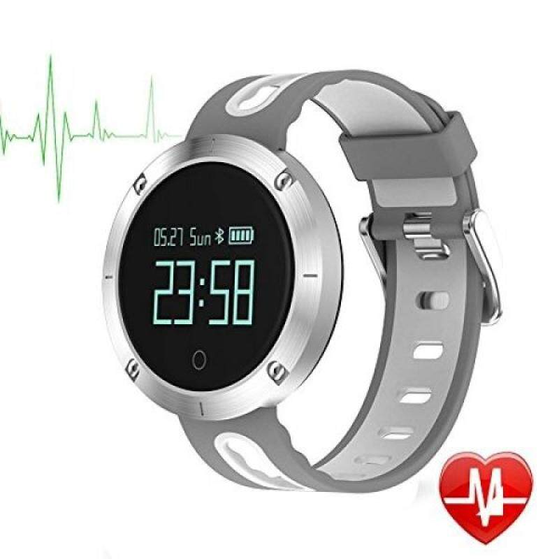 From USA Bluetooth Smart Watch MOREFINE 0.95 LCD IP68 Smart Fitness Tracker Outdoor Sport Watch Heart Rate Blood Pressure Sleep Monitor Pedometer Step Calorie Counter Wristband for IOS/Android (Grey) Malaysia