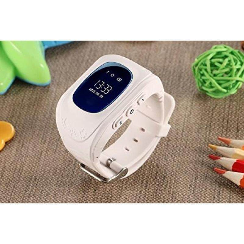 From USA Excelvan Q50 Kids Smart watch with Built-in Microphone GPS LBS SOS Call Reminder Micro SIM Card Adjustable Wristband For Kids (Various Colors) (White) Malaysia