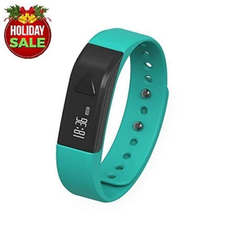 From USA Fitness Trackers,Tigerhu D5 Pedometer Smart Bracelet Bluetooth Activity Wristband Fitness Sleep Tracker Reminder Android Sports Watch (Blue) Malaysia