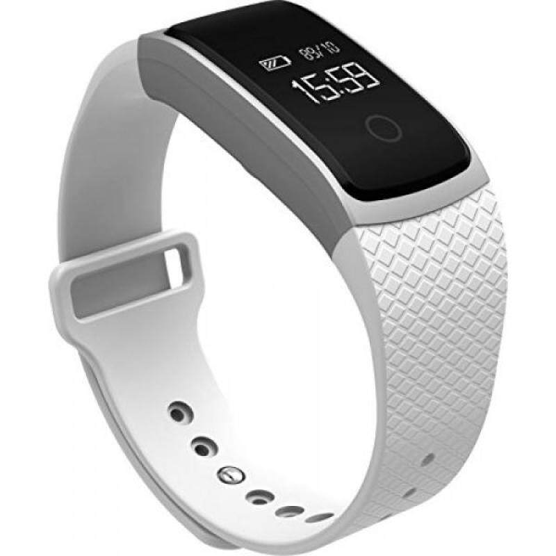 From USA Lincass Smart Heart Rate Monitor Bracelet Fitness Tracker Smart Wristband with Heart Rate Monitor Blood Pressure Blood Oxygen Monitor 2016 New Smart Watch Blood Pressure Smart Bracelet (White) Malaysia