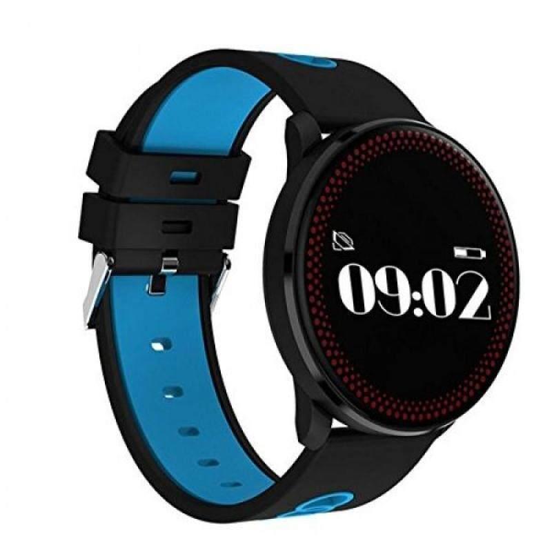 From USA LNBEI CF007 waterproof &dustproof Smart Bracelet Fitness Tracker Heart Rate Blood Pressure Monitor Passometer Bluetooth Multifunction Wristband (blue) Malaysia