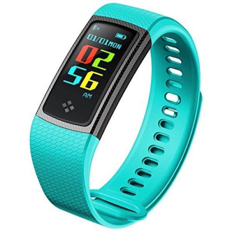From USA Pard 0.96 Inch Color Screen Bluetooth Sports Bracelet, Smart Fitness Tracker with Blood Pressure / Heart Rate / Sleep Monitor, Waterproof Pedometer Wristband for Android and iOS, Green Malaysia