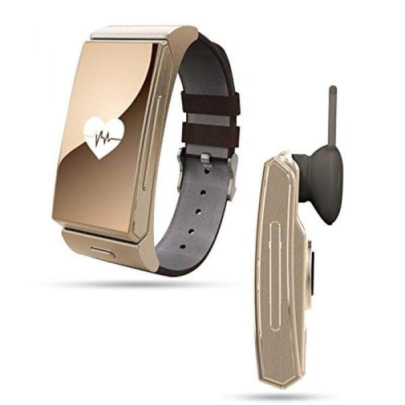 From USA Smart Watch+Bluetooth Earphone,TWOBIU(TM)U Mini Smart Watch with Pedometer Heartrate Monitor Sleep Monitor Remote Camera BT Music-Gold Malaysia