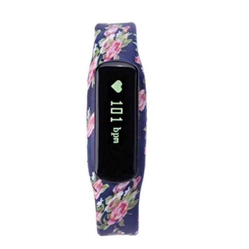 From USA TKOOFN Smart Sports Bracelet Wrist Watch with Heart Rate Monitor Fitness Sleep Tracker Bluetooth Peach Blossom Pattern Malaysia