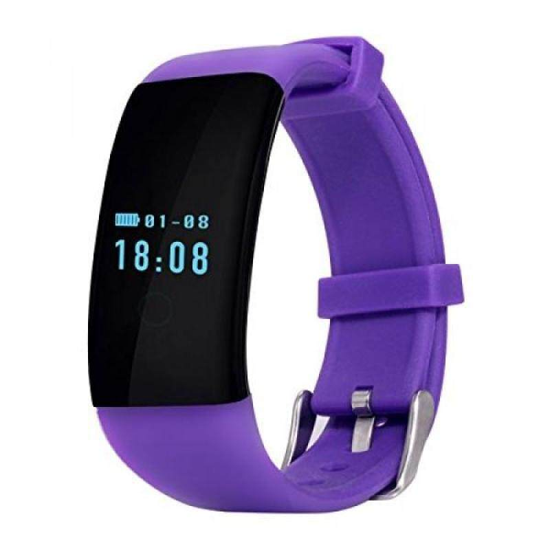 From USA TopePop Heart Rate Fitness Smart Watch Bluetooth Wrist Band Bracelet Touch Screen for Android Smartphones iPhone (Purple) Malaysia