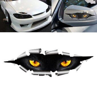 Harga Funny 3D Eyes Car Sticker Waterproof Peeking Monster DecalsStickers