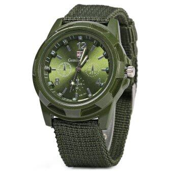 Gemius Army Male Quartz Watch Knitted Canvas Band Sport Wristwatch