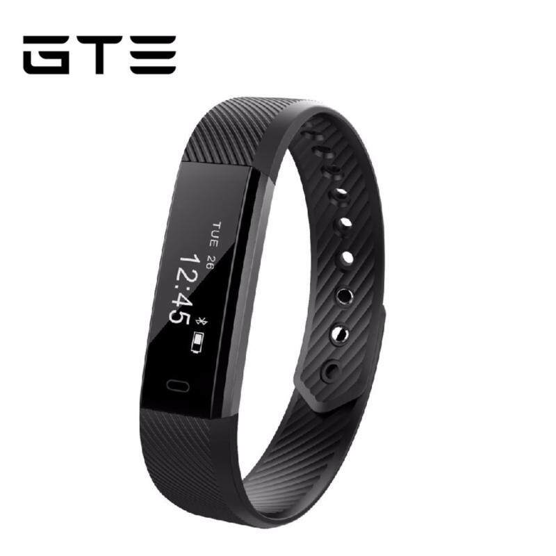 GTE Smart Bracelet Fitness Tracker Step Counter Activity Monitor Band Alarm Clock Vibration Wristband ID115 For Iphone Android Phone - Black Malaysia