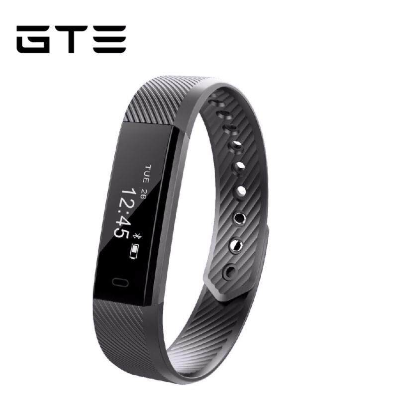GTE Smart Bracelet Fitness Tracker Step Counter Activity Monitor Band Alarm Clock Vibration Wristband ID115 For Iphone Android Phone - Grey Malaysia