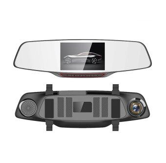 "H802 Car DVR Dash Cam Dual lens Rearview Mirror 5.0"" IPS Touch Screen FHD 1080P With Reverse Parking System Parking Video Recorder Dual Camera"