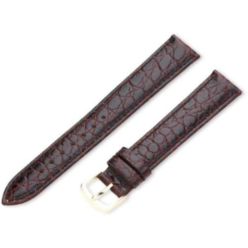 Hadley-Roma Mens MSM717LB 180 18-mm Brown Crocodile Grained Leather Watch Strap Malaysia