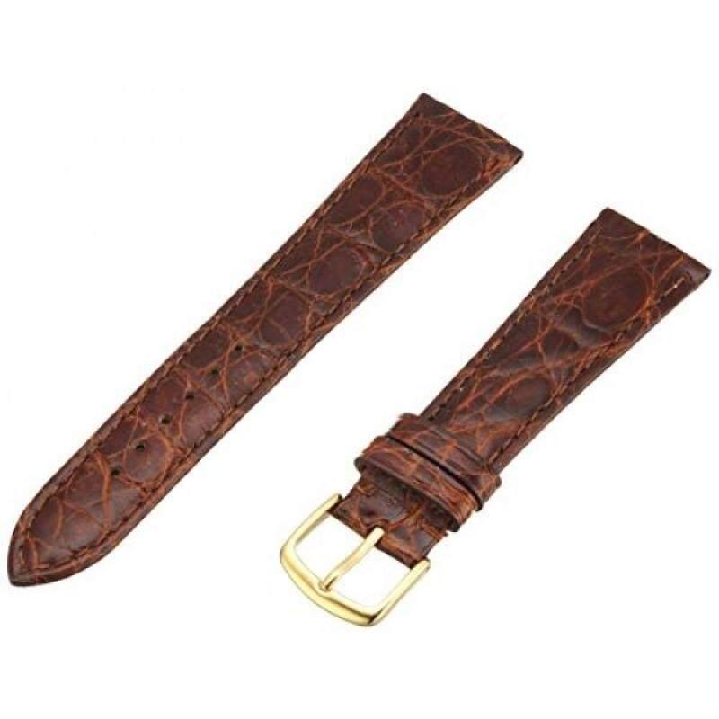 Hadley-Roma Mens MSM822RN-200 20-mm Chestnut Genuine Caiman Crocodile Leather Watch Strap Malaysia