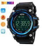 Hot Sales Skmei 1227 Watch Men's Sports Wristwatches Smart Pedometer Bluetooth Men's LED Alarm Waterproof Digital Watch - Blue intl