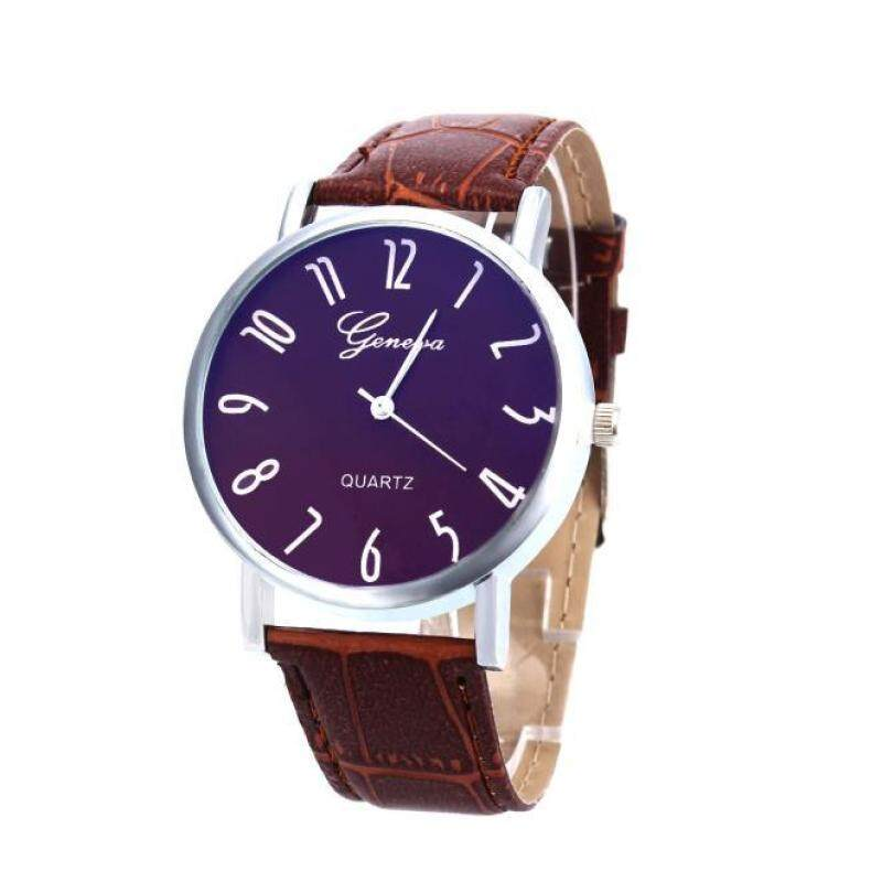 Hot Sale!Women Men Band Analog Quartz Business Wrist Watch CO Malaysia
