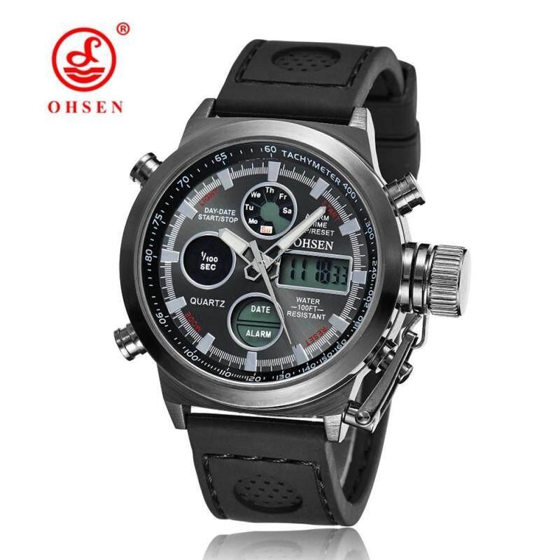 Hot Selling Original Famous Brand OHSEN Digital Sport Mens Watch Jam Tangan  Male Clock Nylon Band Fashion Diving WristWatch Jam Tangan es For Men Gift Malaysia