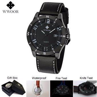 Harga Loveu Luxury Jewelry Watch Men Military Sports Watches Men's Quartz Analog 3D Face Hour Clock Male Best Gift Leather Belt table Wrist Watch, White