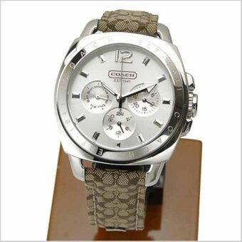 Harga Coach Leather Strap Watch Brown 14501218