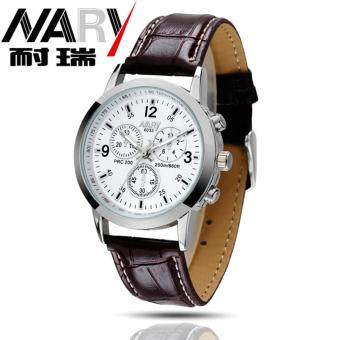Harga Durable 2016 Fashion NARY Luxury Watch Women Leather Quartz Watch