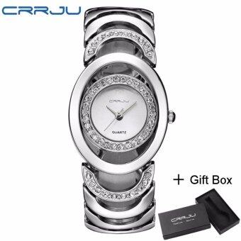 Harga Loveu Lady's Crystals Dress Watch Female Quartz Watch Fashion Casual Business Stainless Steel Straps Watch