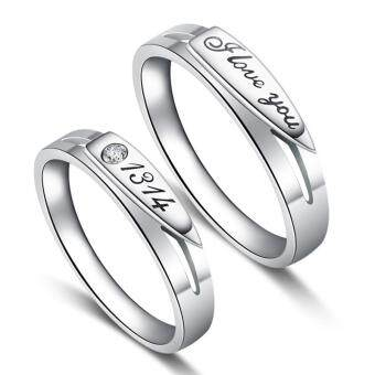 Harga Couple Rings Jewellry 925 Silver Adjustable Lovers Ring Jewelry E001