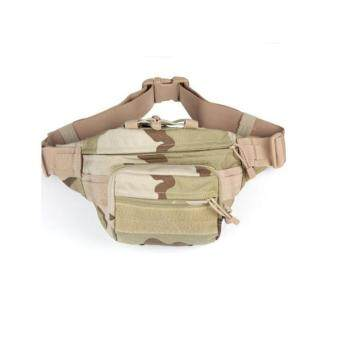 Harga New Waist Bag Tactical Bag Men Outdoor Sports Military Waist Pouch Fanny Pack Travel Bags (Three sand)