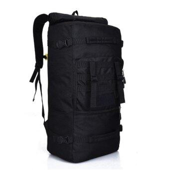 Harga Backpack Shoulder Bag 50L Hiking Camping Outdoor Travel (Black)