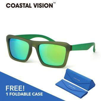 Harga COASTAL VISION Polarized Men Green sunglasses Rectangle anti UVA/B lenses CVS5823