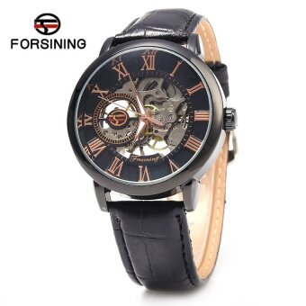 Harga Forsining Self-Winding Auto Mechanical Leather Wrist Watch for Men(Not Specified)(OVERSEAS)