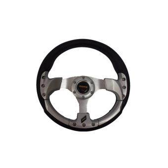 Harga MOMO 13 inch PU Steering Wheel/Drifting Steering Wheel/Racing Steering Wheel -Silver