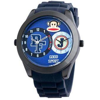 Harga Paul Frank Dual Time Boys Dark Blue Silicon Strap Watch PFFR1231-01C