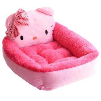 Harga [PREMIUM QUALITY] Thickness Comfy Adorable Cartoon Pet Bed (Hello Kitty) (Pink)