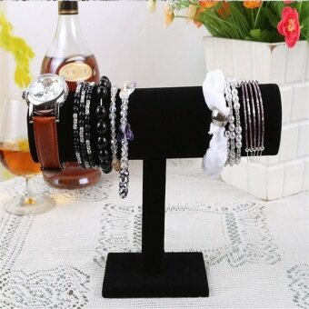 Harga Jewels Display Hard Stand Holder Bracelet Watch Chain Bangle T-bar Rack US Black
