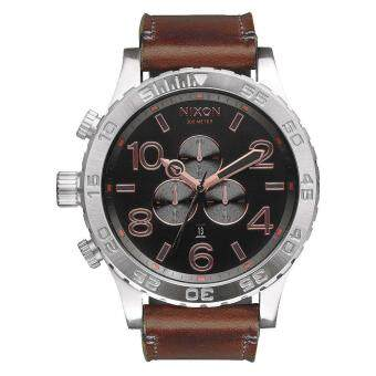 Harga Nixon Watch The 51-30 Brown Stainless-Steel Case Leather Strap Mens NWT + Warranty A1242064