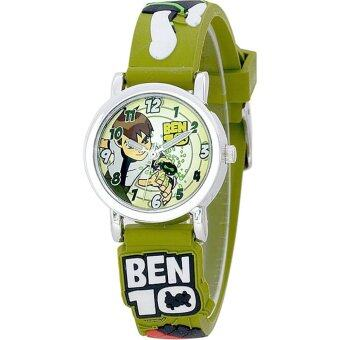 Harga Ben10 Boy's Rubber Strap Watch BTFR240-01B (Army Green)
