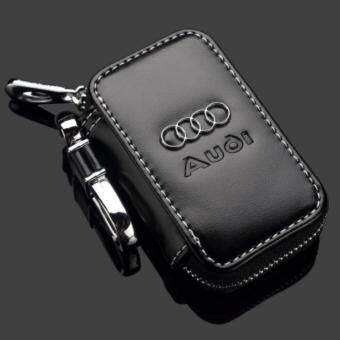Harga Audi Car Key Pouch / Key Chain / Key Holder Genuine Leather (Type D)
