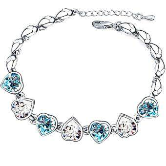 Harga LOVENGIFTS Swarovski Sweet Love Bracelet (Blue)