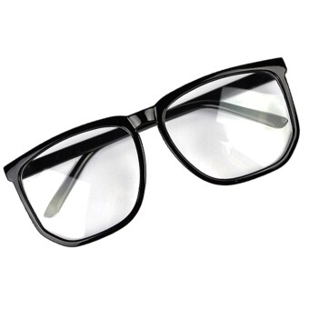 Harga Yidabo Oversized Tortoise Shell Retro Nerd Geek Black Clear Lens Plain Glasses For Fancy Dress (Black)