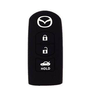 Harga Mazda 3 Buttons (Keyless) Silicone Key Cover (Black)