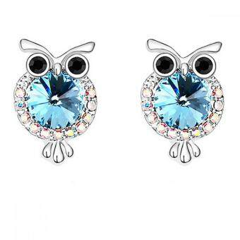 Harga LOVENGIFTS Swarovski Cute Owl Stud Earrings (Blue)