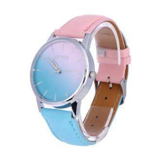 Harga Women Casual Candy Color Leather Belt Student Watch (1#)