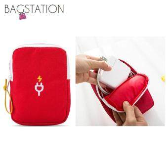 Harga BAGSTATIONZ Travel Gadget/Power Bank Pouch (Red)