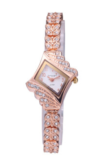 Harga King Girl A-9097 Hot Promotions Women Rose Gold Diamond Luxury Watch Fashion Brand Watch White