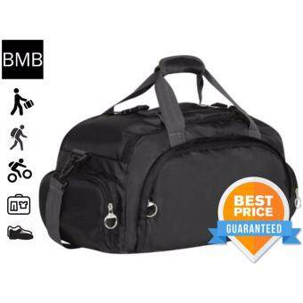 Harga BMB 3 in 1 Lightweight Travel Casual Hand Carry Duffle Sling Bag and Backpack B255 - Black