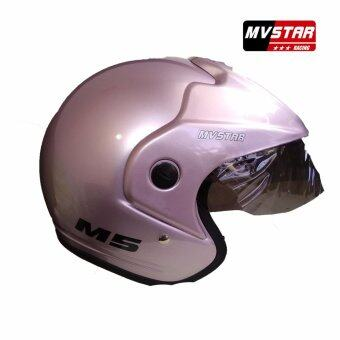 Harga MV STAR M5 Helmet Mettalic Pink Medium/Large
