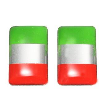 Harga 2pcs Italy Italian Flag Resin Emblem Badge Decal Sticker for most Auto Car