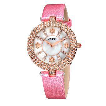 Harga oxoqo KEZZI Brand 2016 New Luxury Women Watch High Quality Ladies Rhinestone Leather Wristwatch Montre Femme Fashion Relogio Feminino (Red)