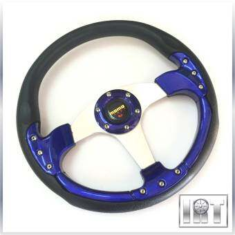 Harga MOMO Racing Rally Flat Steering Wheel 35cm (Blue)