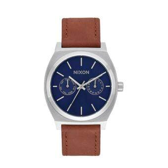 Harga Nixon Watch Time Teller Deluxe Brown Stainless-Steel Case Leather Strap Mens NWT + Warranty A9272307