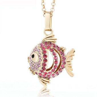 Harga Lava Stone Diffuser necklace -Fish 451